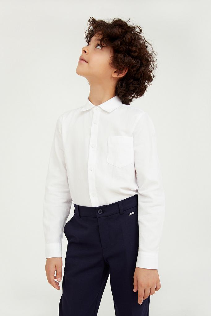 Купить KA20-86000, Рубашка для мальчиков Finn-Flare цв. белый р-р. 140, Finn Flare,