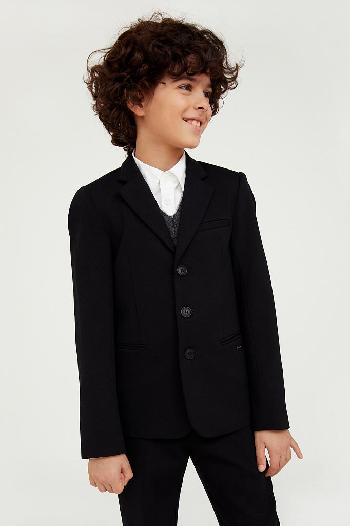 Купить KA20-86007, Пиджак для мальчиков Finn-Flare цв. черный р-р. 140, Finn Flare,