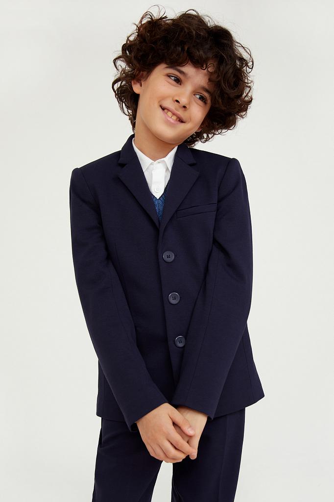 Купить KA20-86007, Пиджак для мальчиков Finn-Flare цв. синий р-р. 140, Finn Flare,