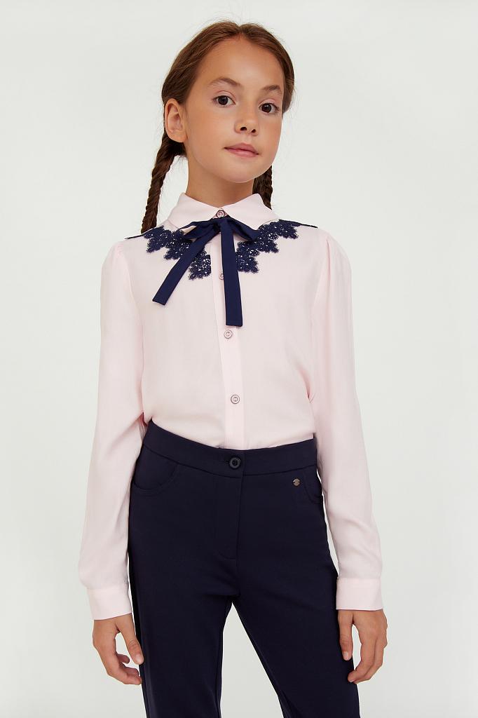 Купить KA20-76004R, Блузка для девочек Finn-Flare цв. розовый р-р. 140, Finn Flare,