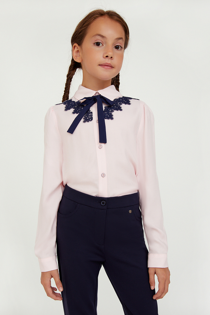 Купить KA20-76004R, Блузка для девочек Finn-Flare цв. розовый р-р. 134, Finn Flare,
