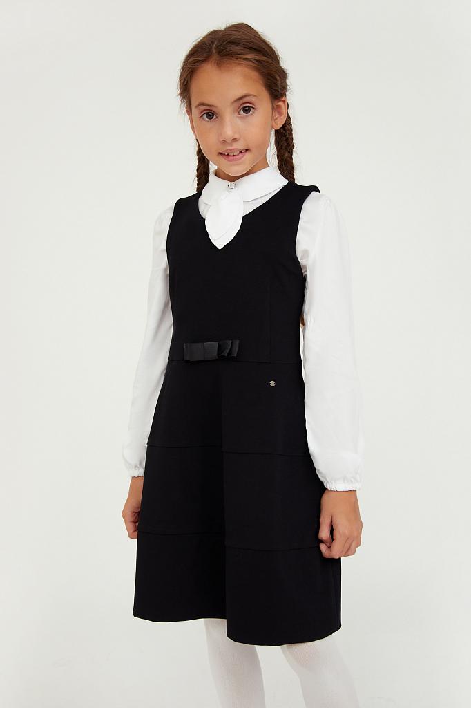 Купить KA20-76008, Платье для девочек Finn-Flare цв. черный р-р. 134, Finn Flare,