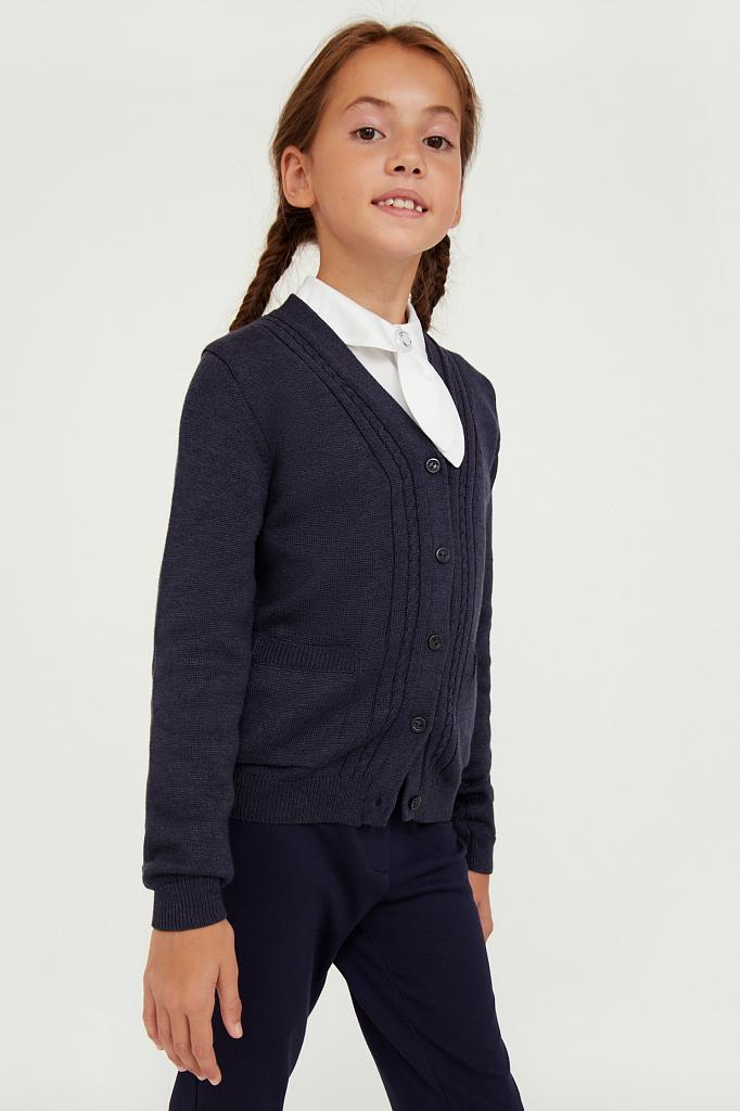Купить KA20-76100, Жакет для девочек Finn-Flare цв. синий р-р. 134, Finn Flare,