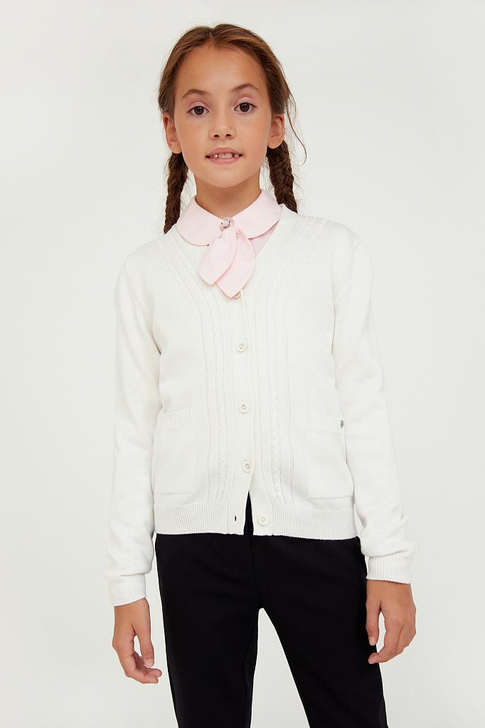 Купить KA20-76100, Жакет для девочек Finn-Flare цв. белый р-р. 134, Finn Flare,