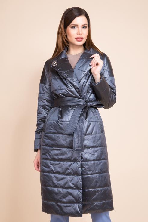 Пальто женское ElectraStyle 5У-7038/17-2632 синее 50