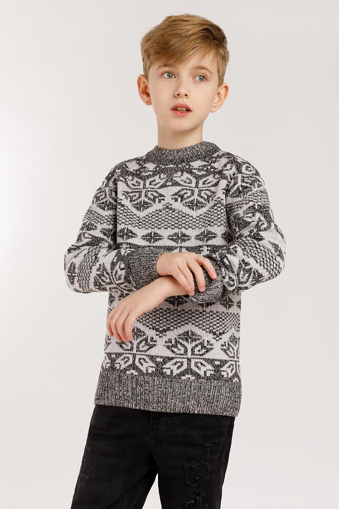 Купить KW19-81114, Джемпер для мальчиков Finn-Flare цв. серый р-р. 140, Finn Flare,