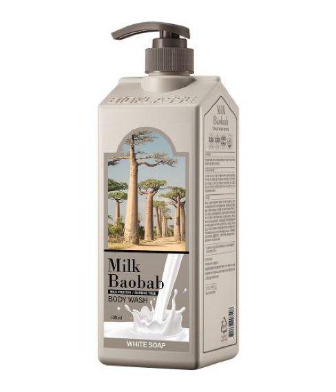 Купить Гель для душа MilkBaobab Perfume Body Wash White Soap (500 мл), MILK BAOBAB
