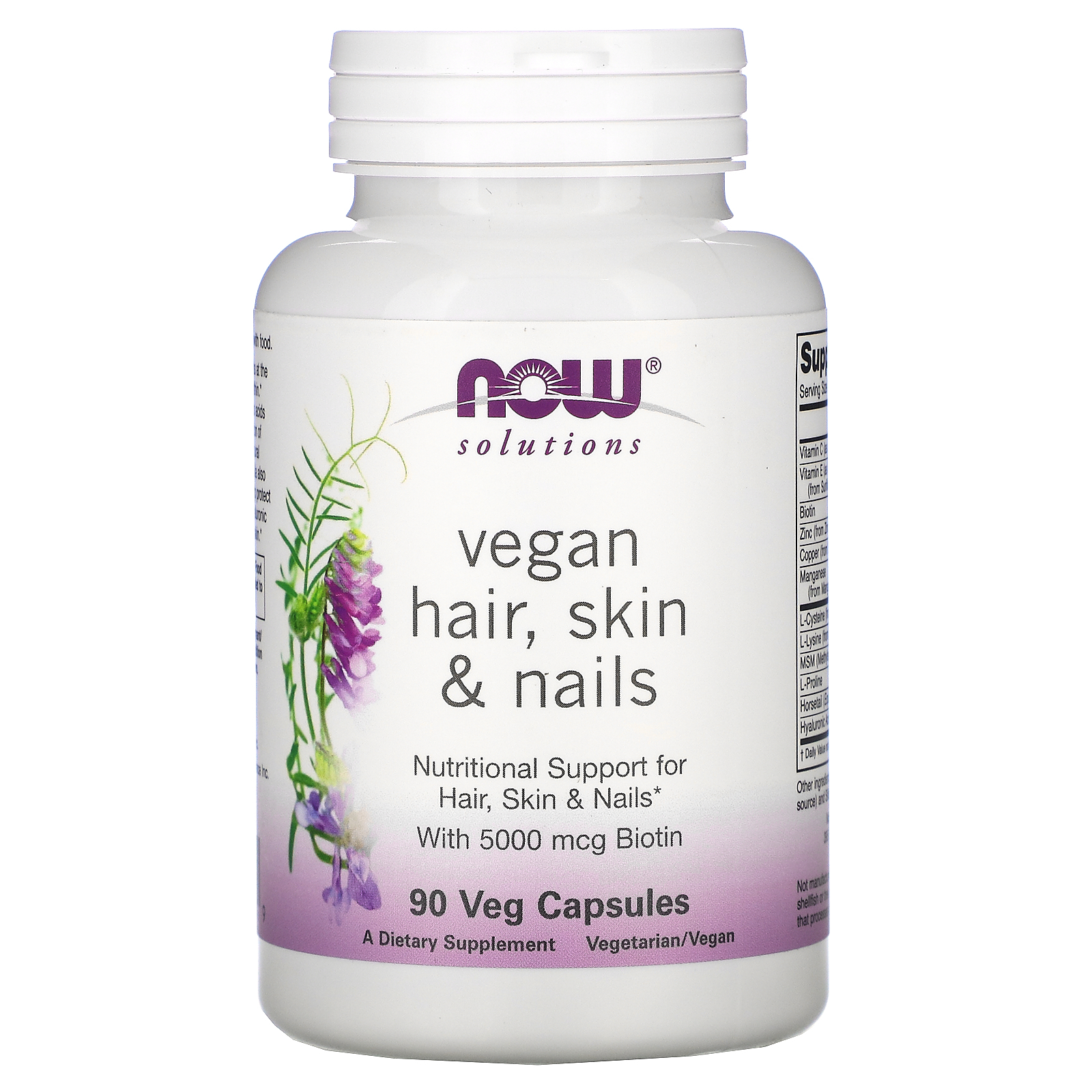 Купить Hair Skin & Nails Vegan NOW капсулы 90 шт.