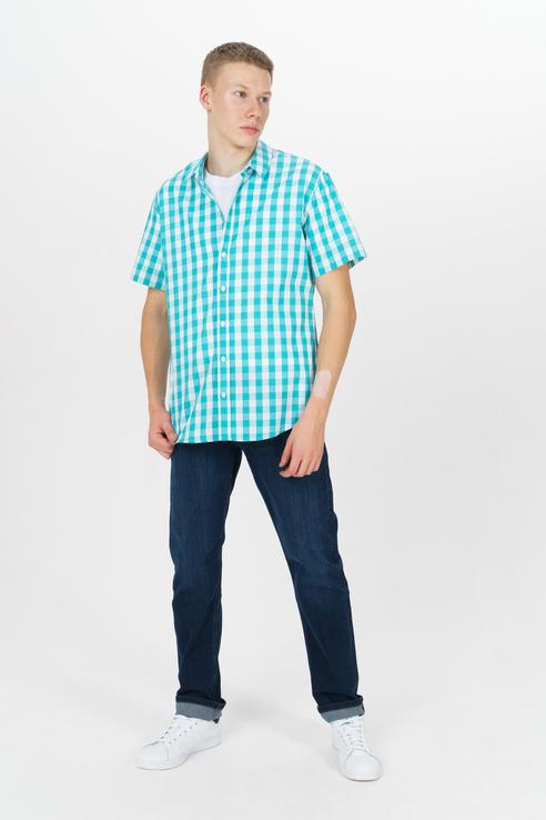 Рубашка мужская Tom Farr T M7015.10 (803-1-coll) бирюзовая 52