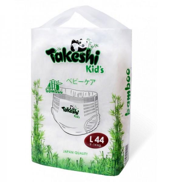 Купить Подгузники-трусики для детей бамбуковые Takeshi Kid's L (9-14 кг) 44 шт 1/4, Подгузники-трусики для детей бамбуковые Takeshi Kid's L (9-14 кг), 44 шт.,