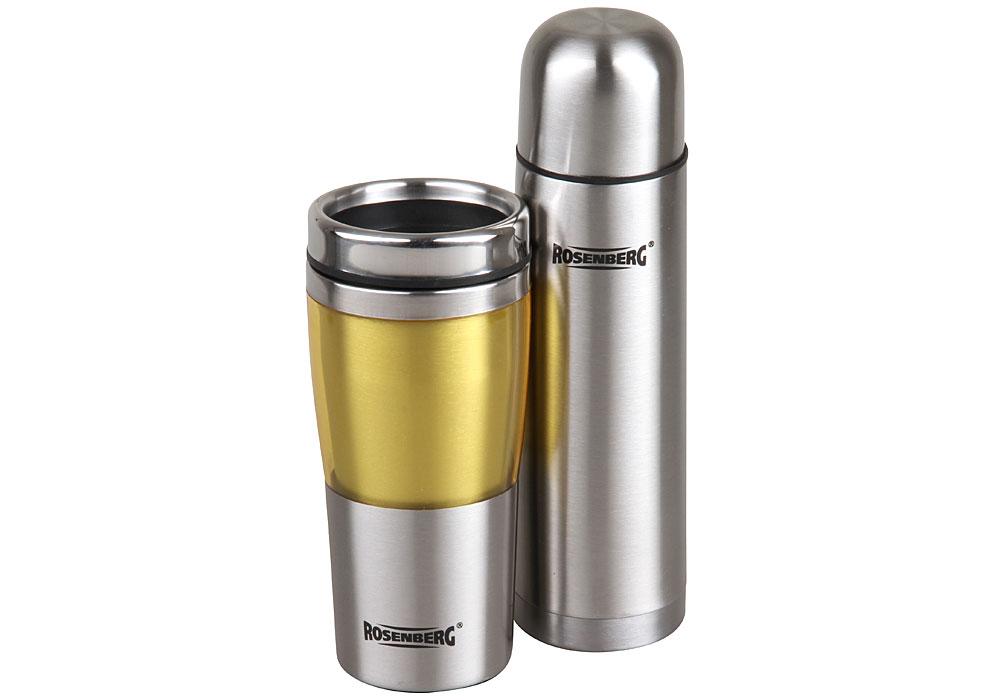 Фото - Подарочный набор: термос 500мл и термокружка 450мл Rosenberg RSS-420103