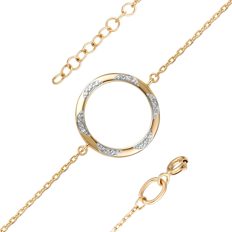 Браслет женский АЛЬКОР 5148-100 из красного золота