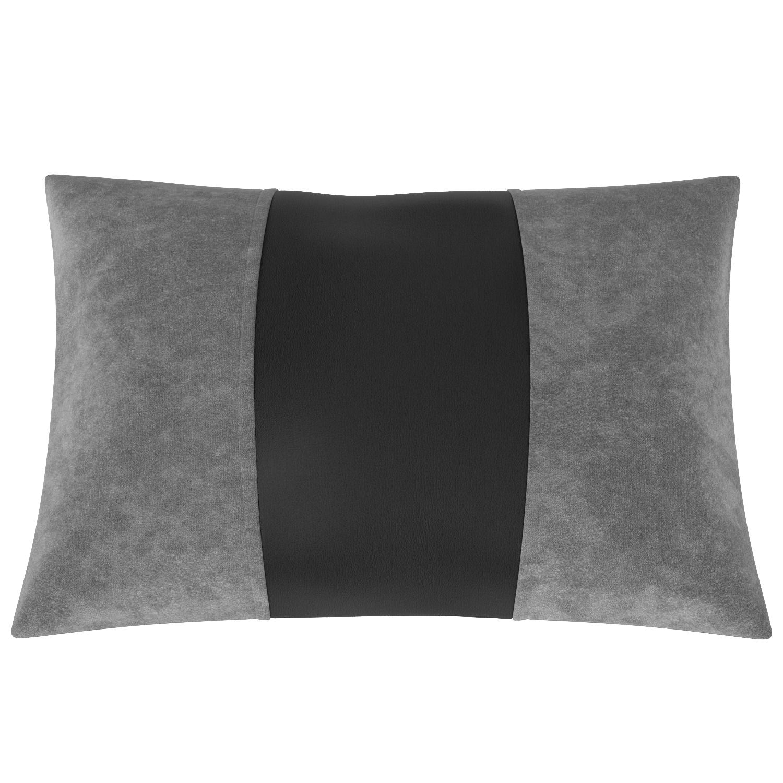 Подушка автомобильная AVTOLIDER1 Экокожа т.серый чёрный