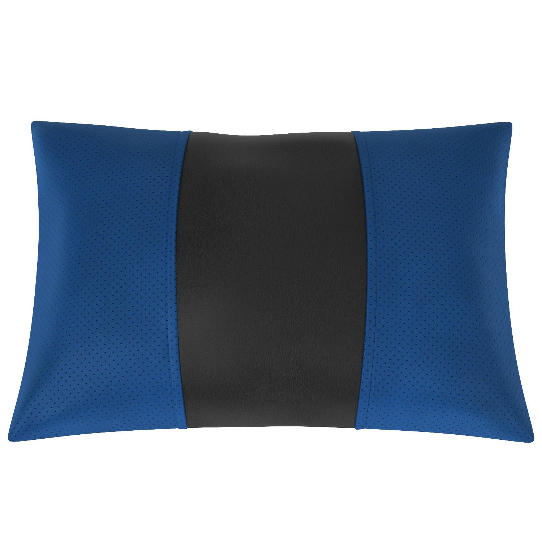 Подушка автомобильная AVTOLIDER1 Экокожа синий чёрный