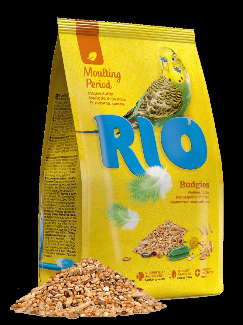 Корм для волнистых попугаев RIO Budgies в период линьки, 500 г фото