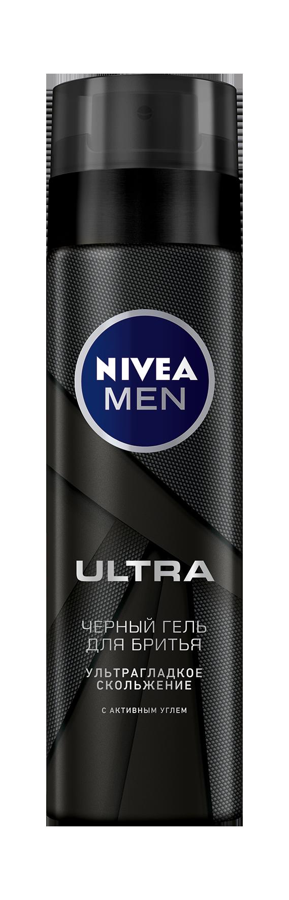 Гель для бритья Nivea Ultra Черный С Активным