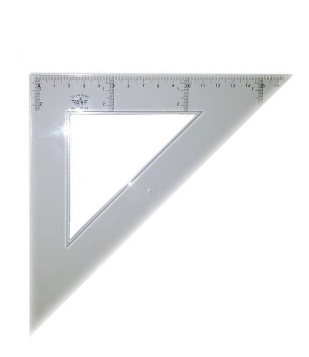 Купить DF103115, Domingo Ferrer Угольник 45°/45°, длина 15 см, шкала 10 см, пластик,