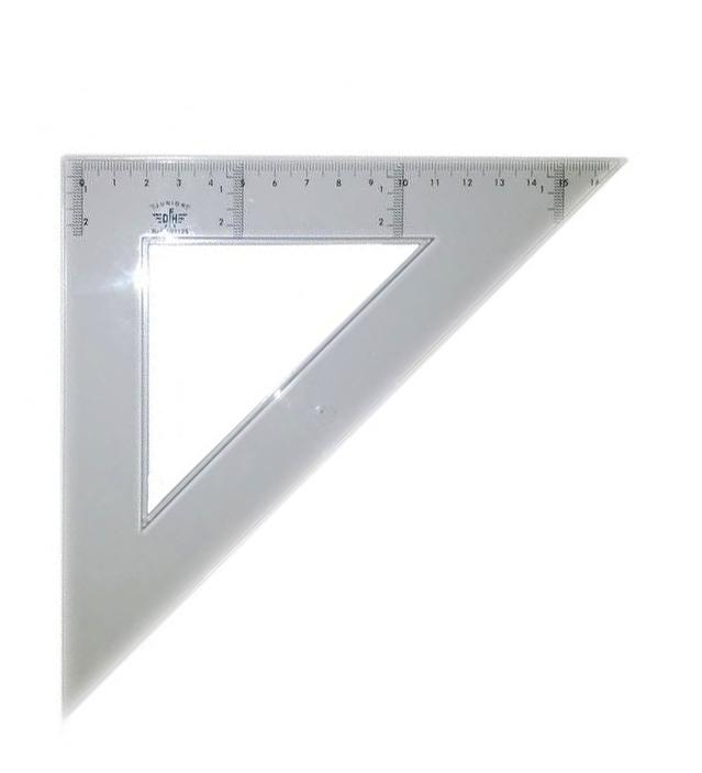 Купить DF103125, Domingo Ferrer Угольник 45°/45°, длина 25 см, шкала 16 см, пластик,