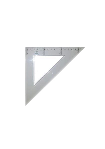 Купить DF103130, Domingo Ferrer Угольник 45°/45°, длина 30 см, шкала 20 см, пластик,