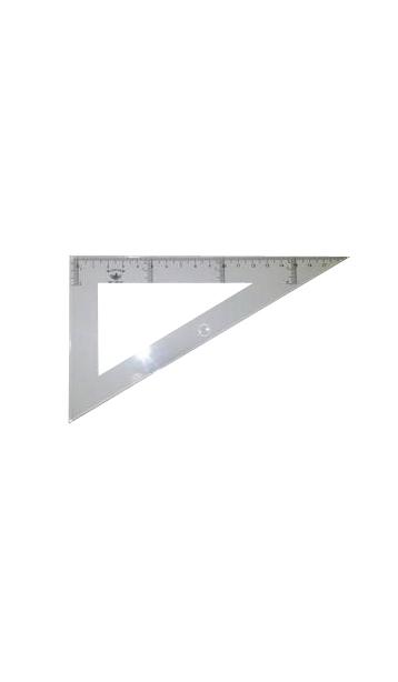 Купить DF104125, Domingo Ferrer Угольник 30°/60°, длина 25 см, шкала 23 см, пластик,