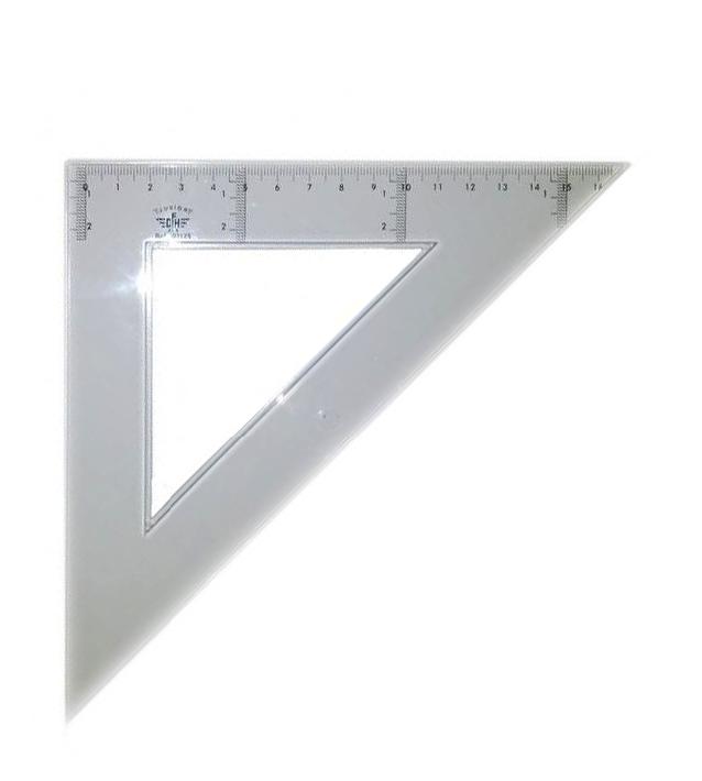 Купить DF123315, Domingo Ferrer Угольник 45°/45°, длина 15 см, шкала 10 см, акрилл,