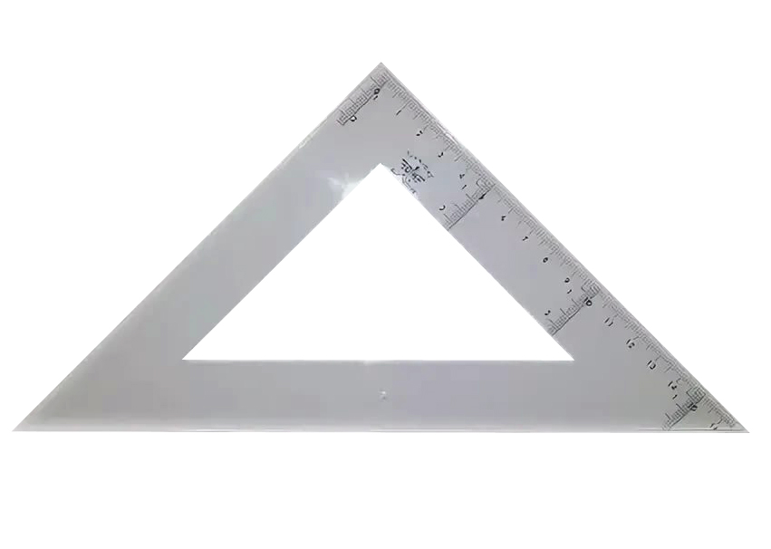 Купить DF123340, Domingo Ferrer Угольник 45°/45°, длина 40 см, шкала 27 см, акрилл,