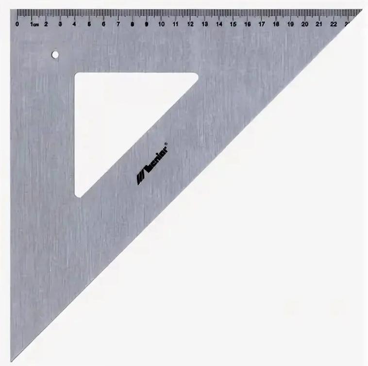 Leniar Угольник 45°, 32 см, алюминий