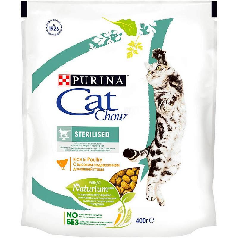 Сухой корм для кошек Cat Chow Special Care Sterilised, для стерилизованных, птица, 0,4кг фото