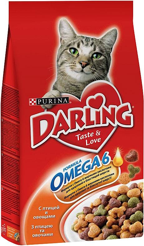 Сухой корм для кошек Darling с птицей и овощами 2кг.