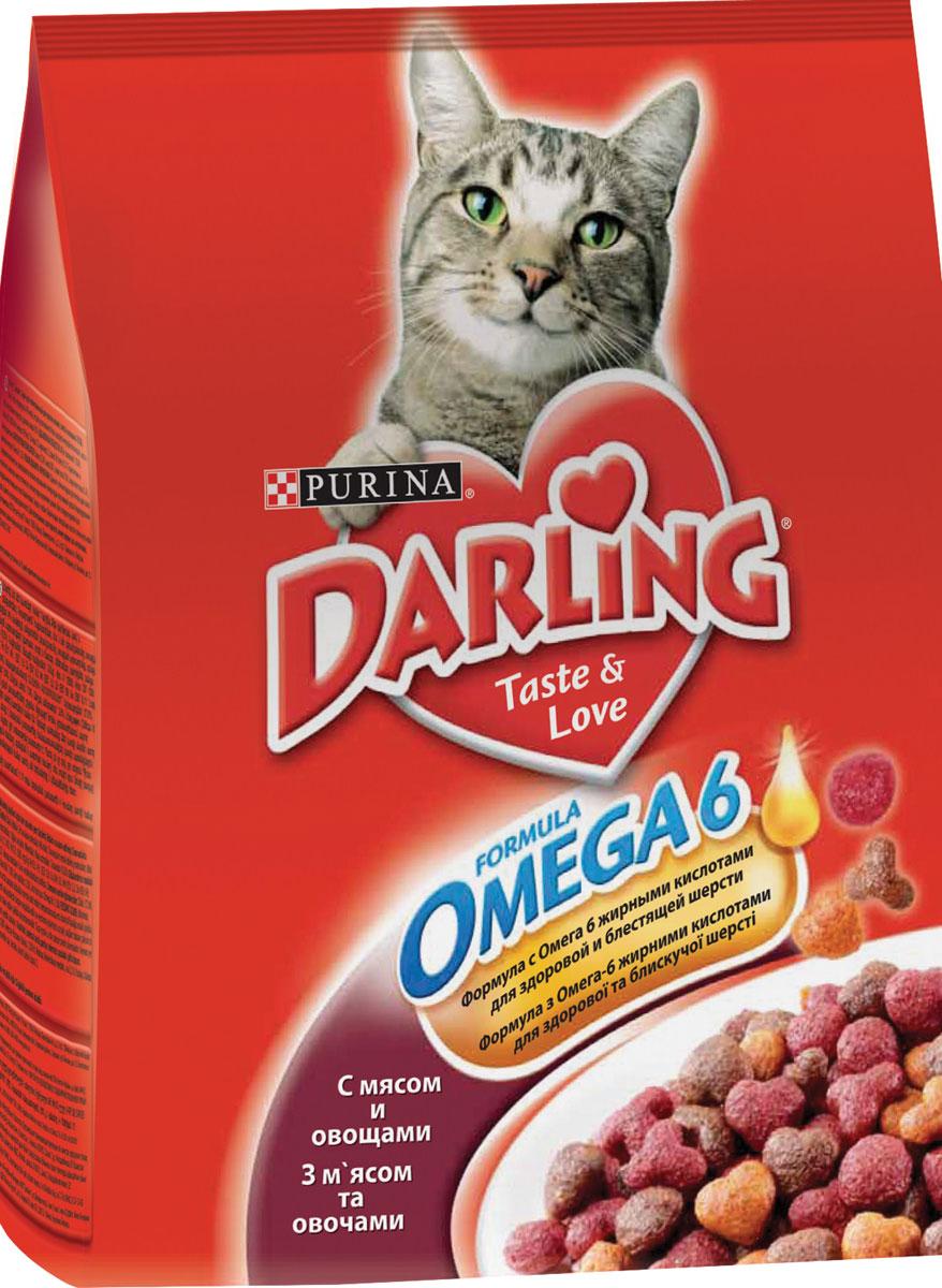Сухой корм для кошек Darling с мясом и овощами 2кг.