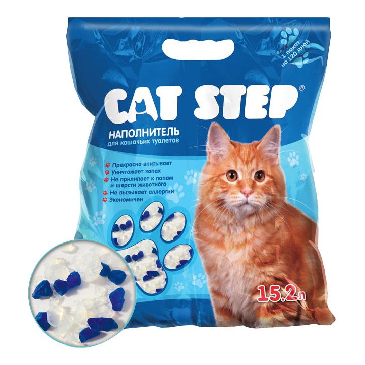 Впитывающий наполнитель для кошек Cat Step силикагелевый, 7.24 кг, 15.2 л фото