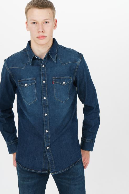 Рубашка мужская Levi's 85744-0009 синяя 46