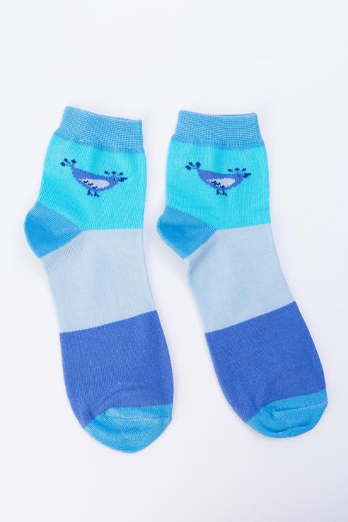 Носки женские Мой размер Ж-018 голубые 34-36
