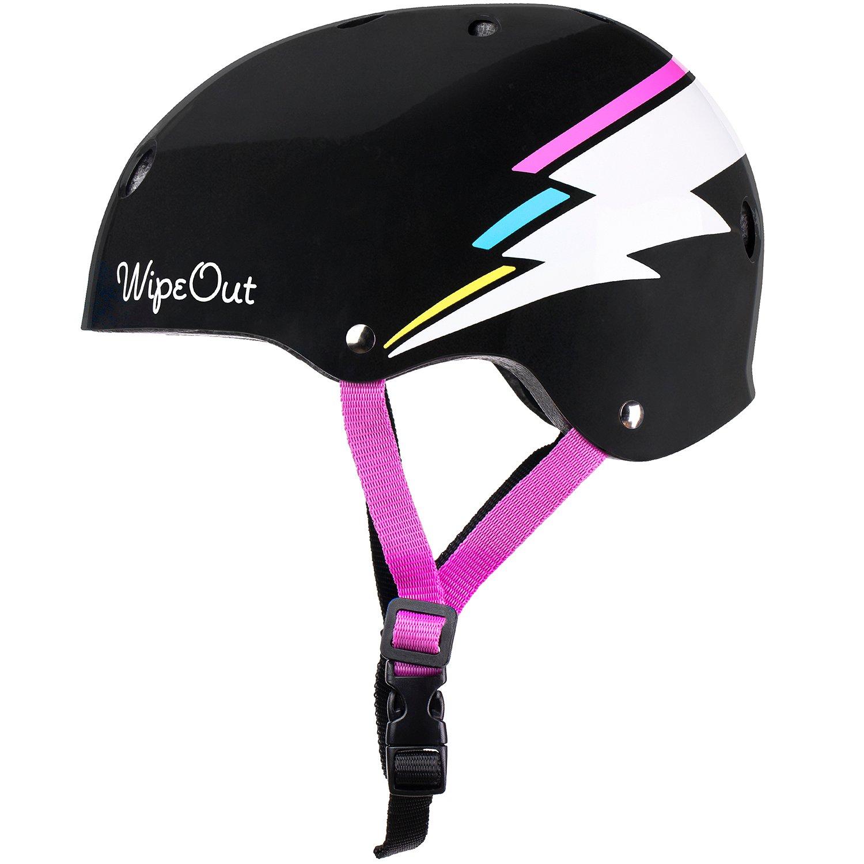 Купить Black Bolt (M 5+) - чёрный, Шлем Wipeout с фломастерами Black Bolt чёрный JL06F538777C р. M 5+,