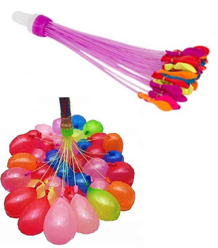 Водные шарики Water Balloons водяные бомбочки разноцветные с адаптером 37 шаров NoBrand А1-86 СВМ5/90230