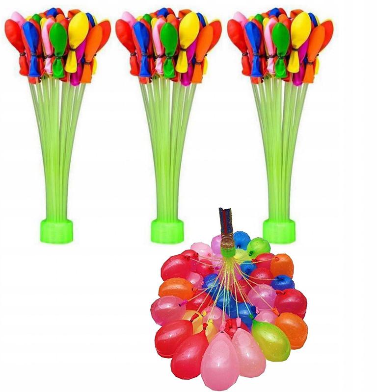 Водные шарики Water Balloons водяные бомбочки разноцветные с адаптером 111 шаров NoBrand А1-86 СВМ5/90229
