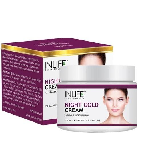 Купить Крем для лица ночной антивозрастной крем для лица 50г Night Gold Cream INLIFE, InlifeNGC100