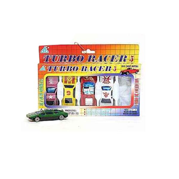 Набор металлических машинок Global Way Shares Turbo Racer, 5 шт.