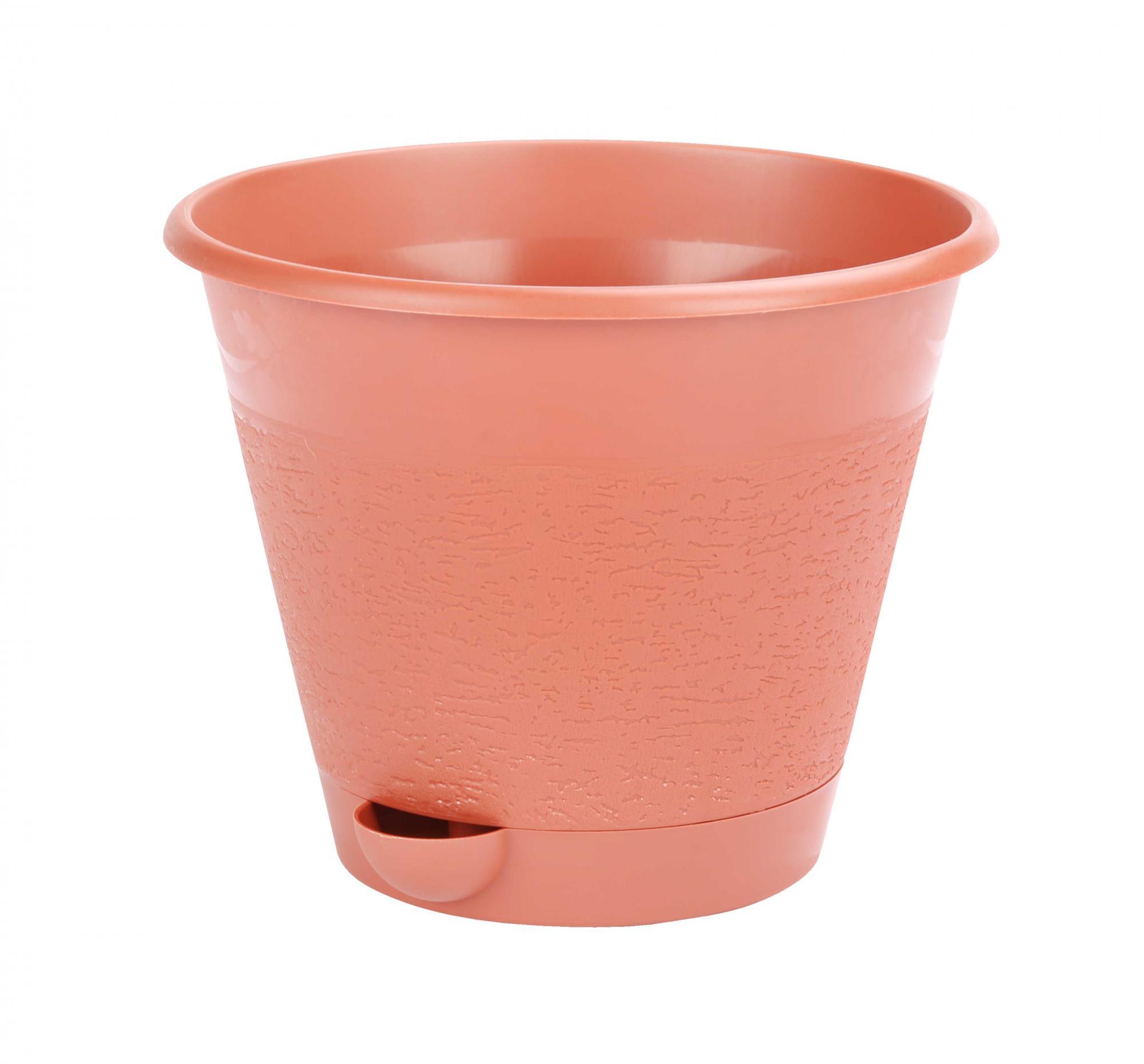 Горшок цветочный Мадера 1,5 л (коричневый)