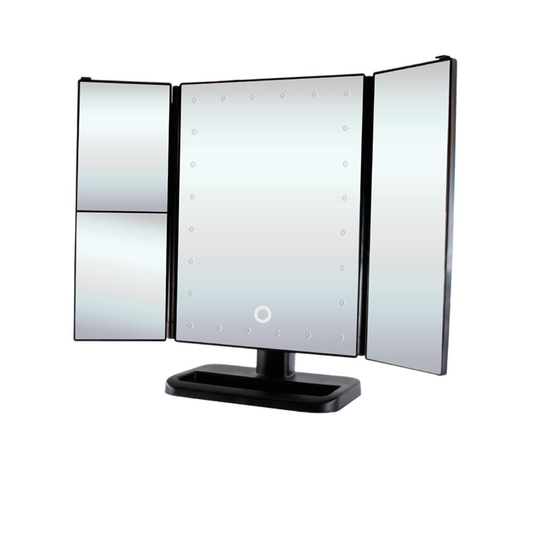 Косметическое зеркало GESS uLike GESS-805, подсветка 24 LED лампы фото