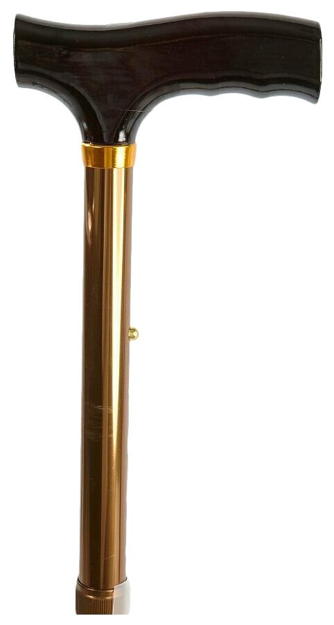 Трость телескопическая, складная, с деревянной ручкой,