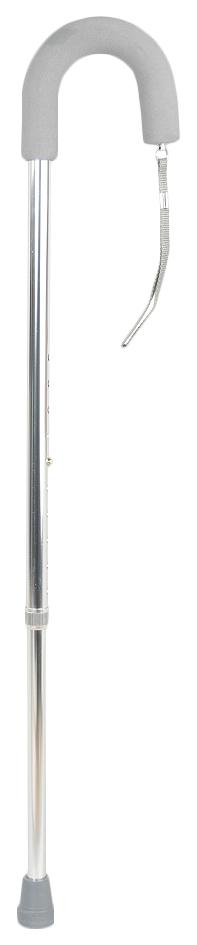 Купить Трость телескопическая, с ремешком и мягкой ручкой, 76-99 см, хром Valentine 10080SL