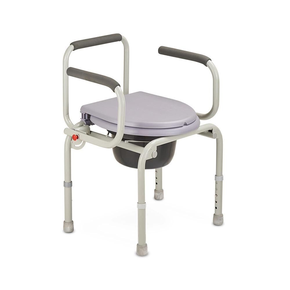 Кресло туалет, со спинкой, с опускающимися подлокотниками
