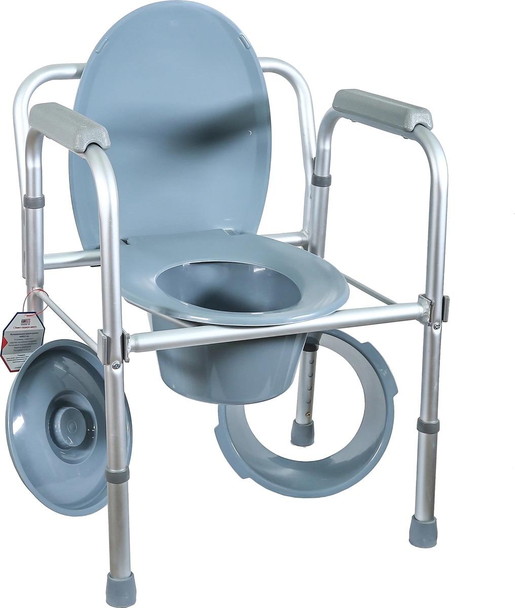 Кресло туалет, складное Amrus AMCB6808