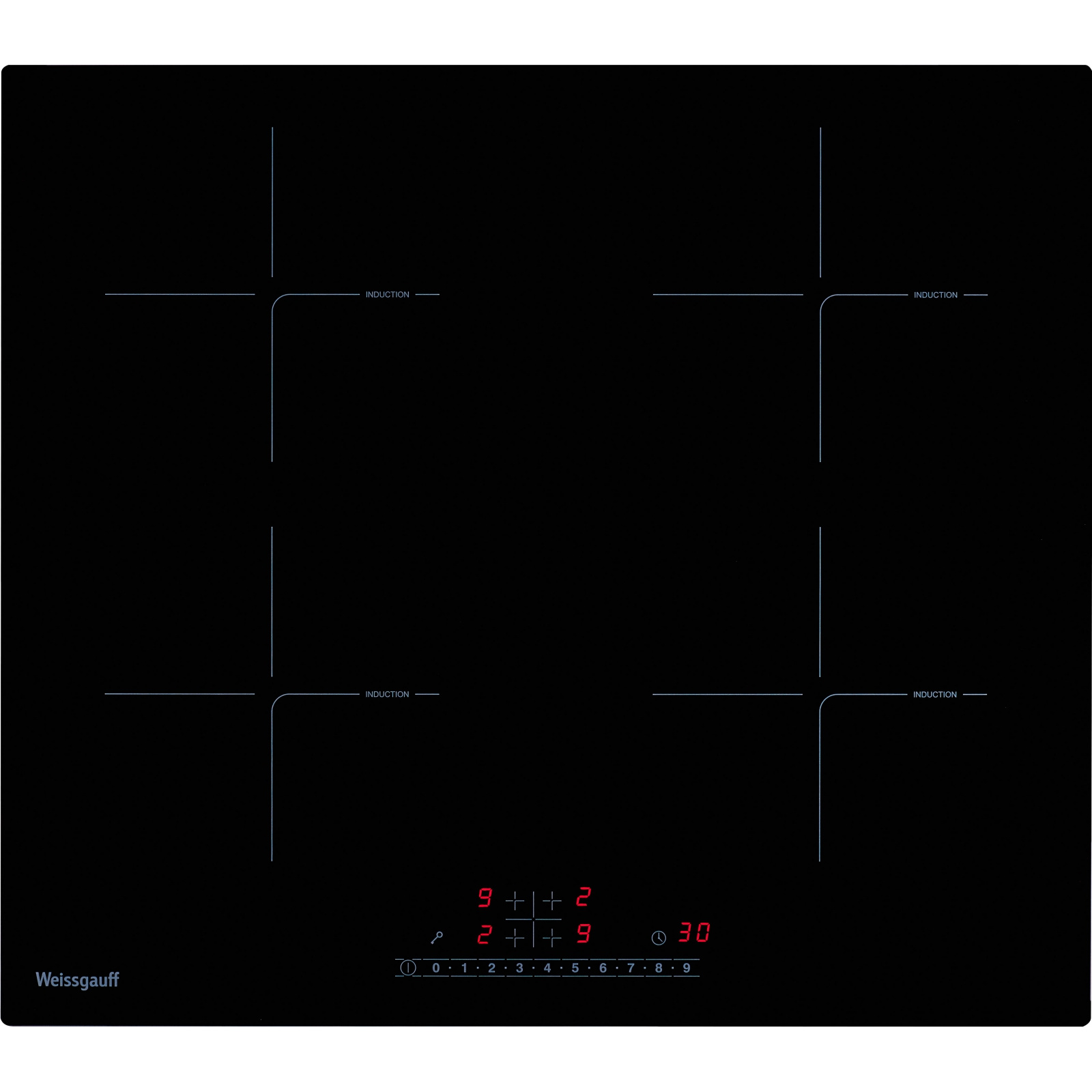 Встраиваемая варочная панель индукционная Weissgauff HI 640 BS Black фото