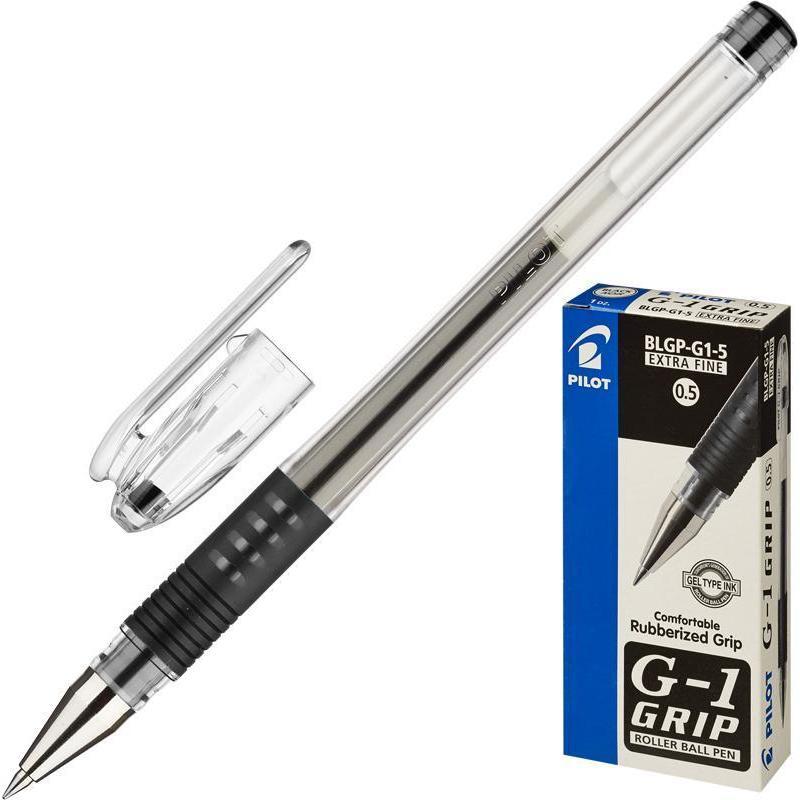 Ручка гелевая PILOT BLGP-G1-5 резин.манжет. черная 0,3мм