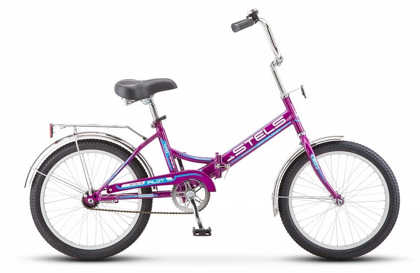 Велосипед 20 складной STELS Pilot 410 2018 13,5 фиолетовый