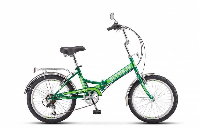 Велосипед 20 складной STELS Pilot 450 2018 13,5 зеленый