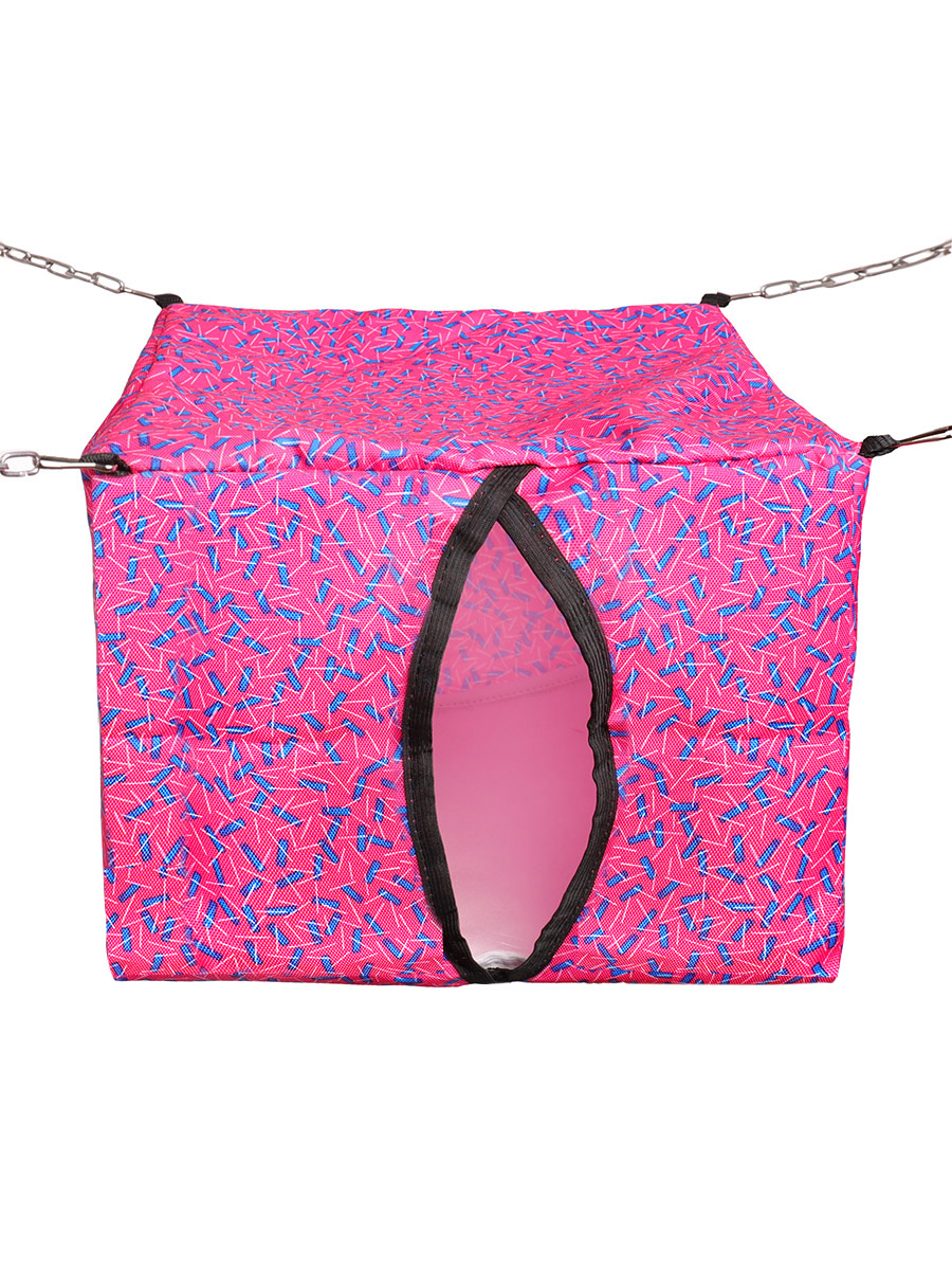 Домик для грызунов Монморанси подвесной, розовый/синий, 30х30х30