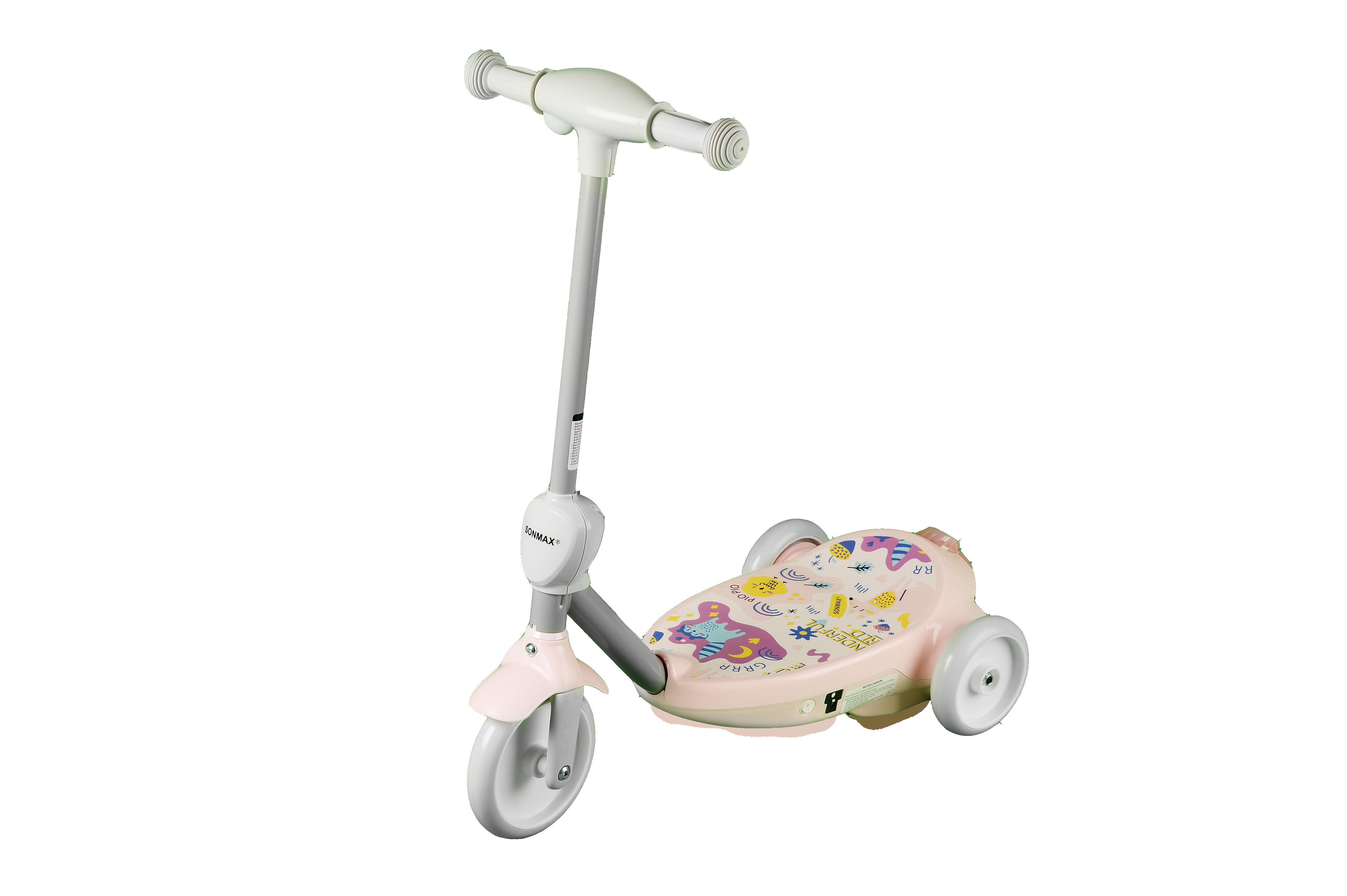 Купить Электросамокат детский SONMAX с мыльными пузырями, розовый, Самокаты детские трехколесные